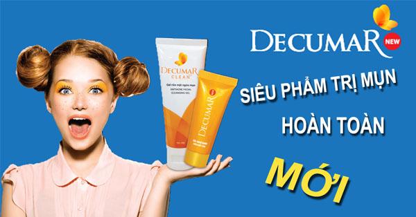 Bộ sản phẩm gel và sữa rửa mặt trị mụn Decumar 50g - COMBO-DCM